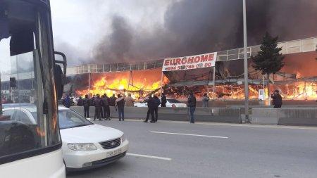 """""""EuroHome""""dakı yanğının söndürülməsi üçün helikopter cəlb olunub-VIDEO"""