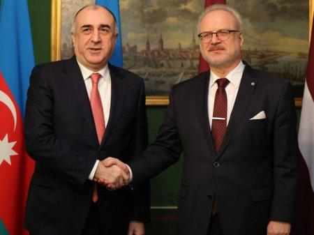 Elmar Məmmədyarov Latviya Prezidenti ilə görüşdü